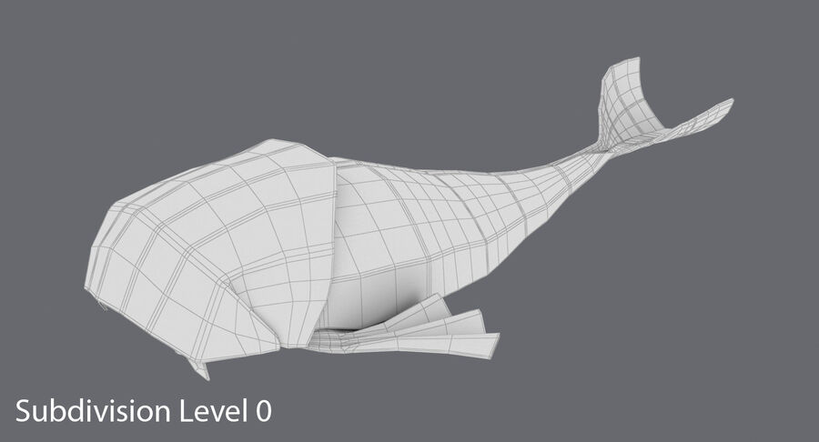 Origami djur samling royalty-free 3d model - Preview no. 68