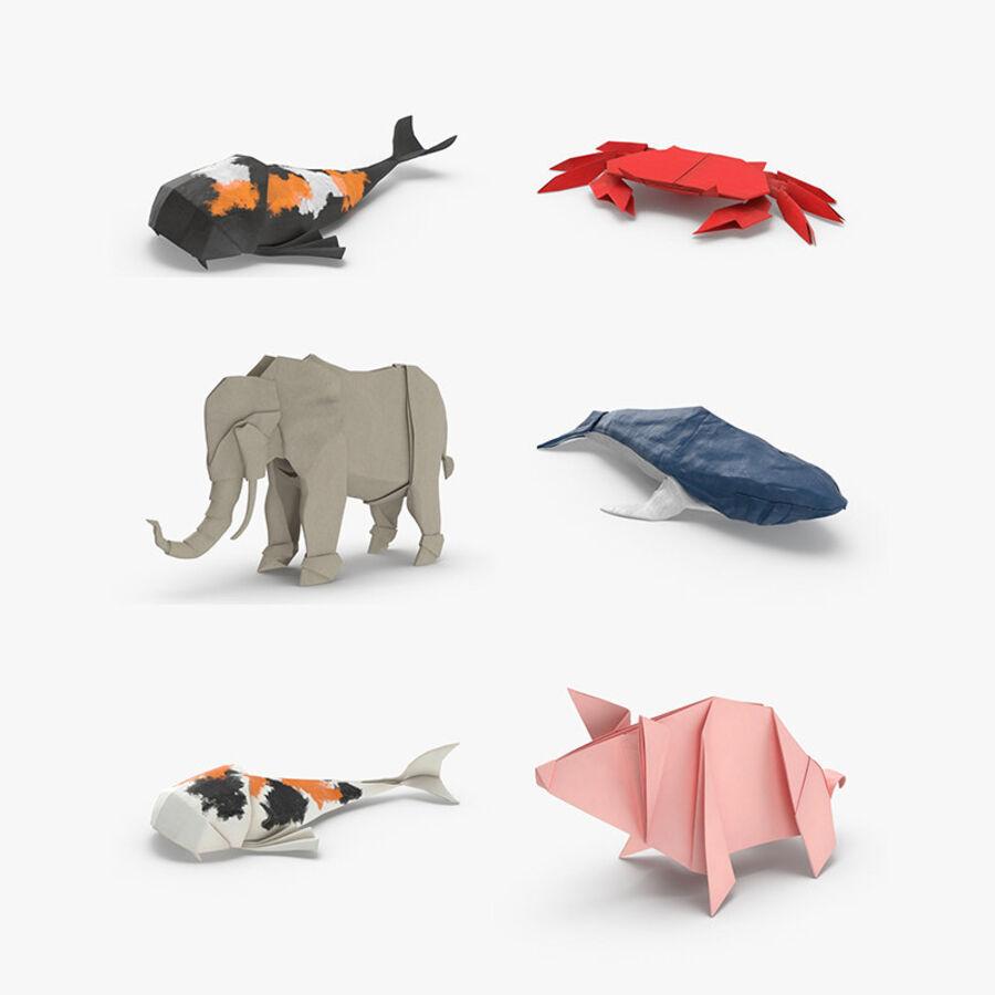 Origami djur samling royalty-free 3d model - Preview no. 1