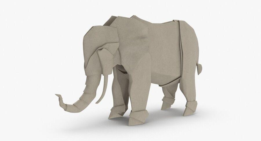 Origami djur samling royalty-free 3d model - Preview no. 37