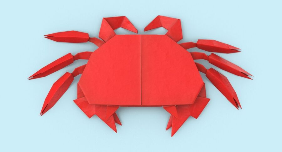 Origami djur samling royalty-free 3d model - Preview no. 52