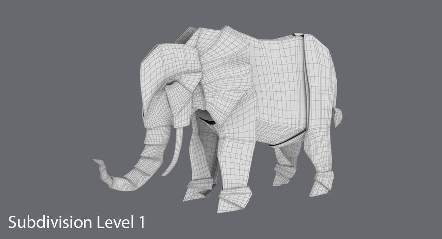 Origami djur samling royalty-free 3d model - Preview no. 42