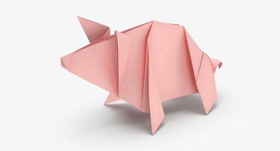 Origami djur samling royalty-free 3d model - Preview no. 25