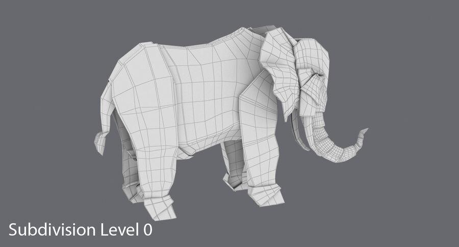 Origami djur samling royalty-free 3d model - Preview no. 47