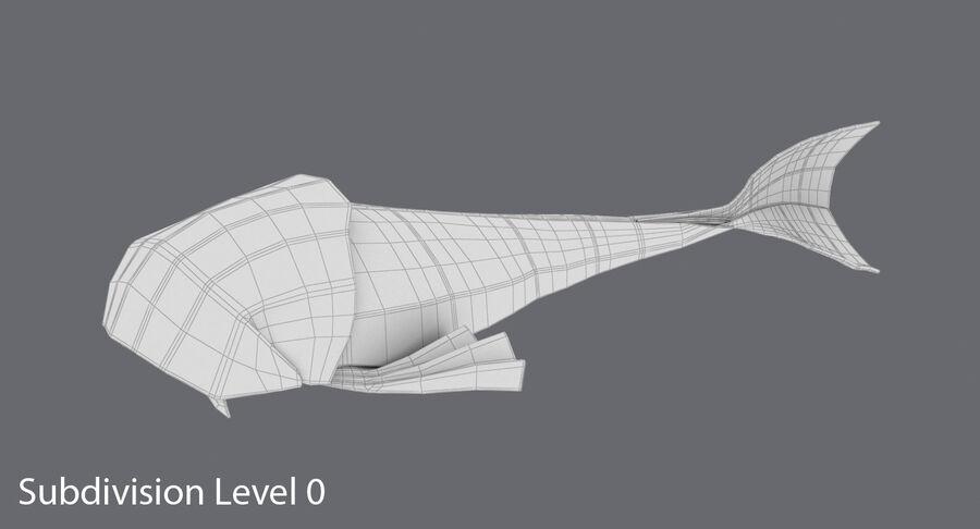 Origami djur samling royalty-free 3d model - Preview no. 11