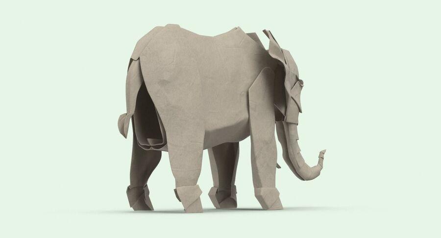 Origami djur samling royalty-free 3d model - Preview no. 41