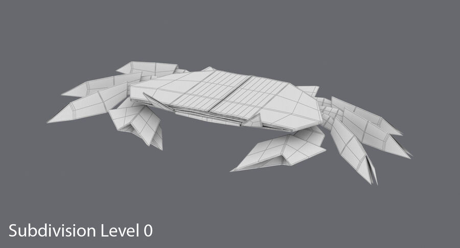 Origami djur samling royalty-free 3d model - Preview no. 60