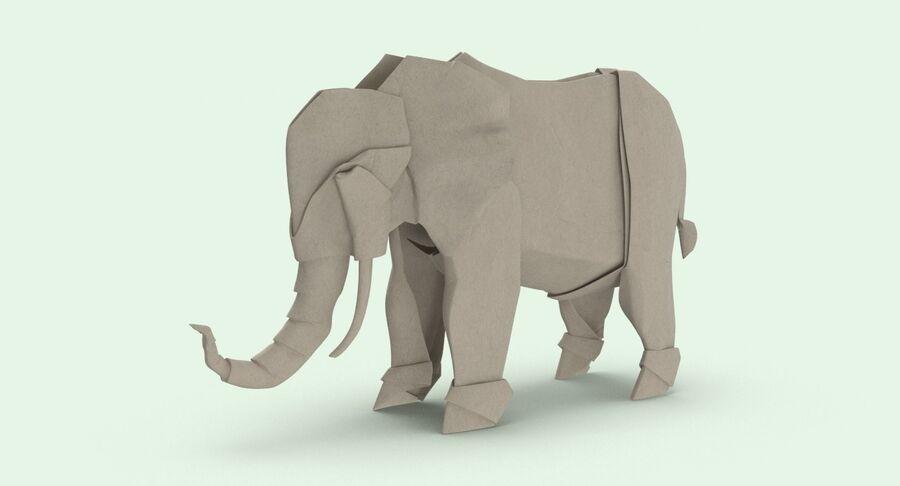 Origami djur samling royalty-free 3d model - Preview no. 39