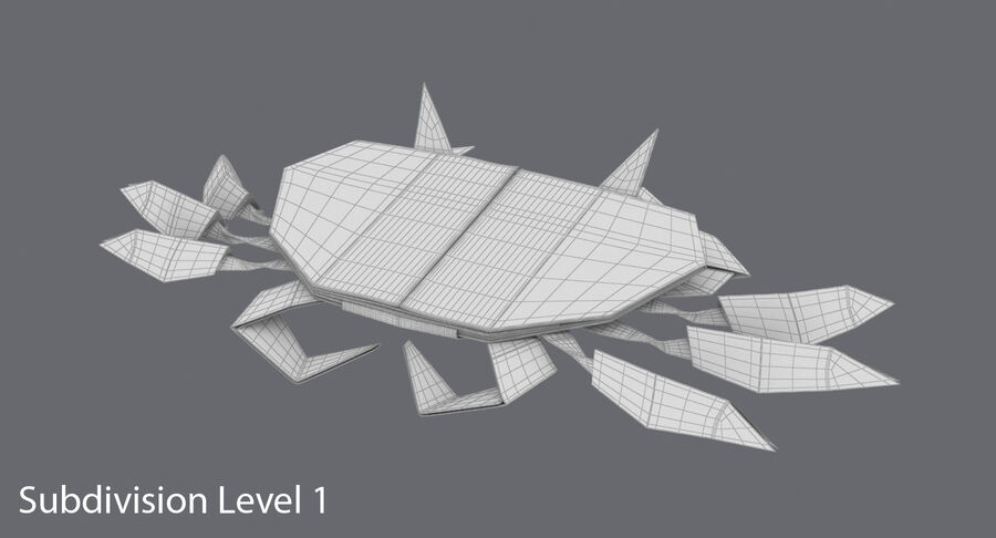 Origami djur samling royalty-free 3d model - Preview no. 58