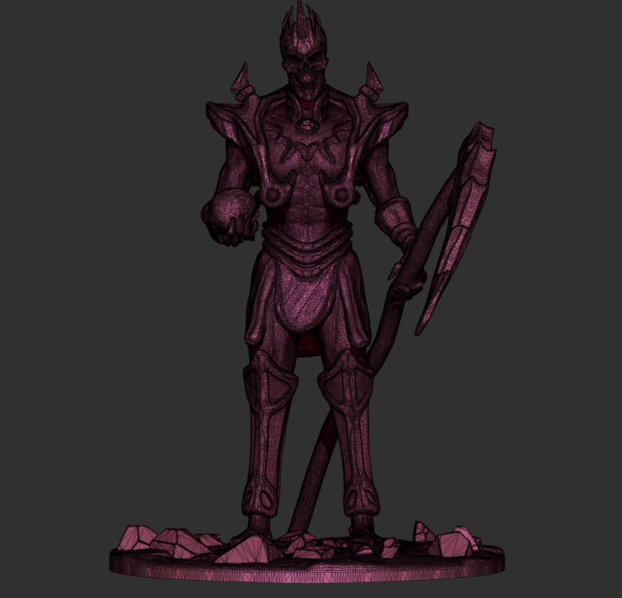 Undead Lord royalty-free 3d model - Preview no. 3