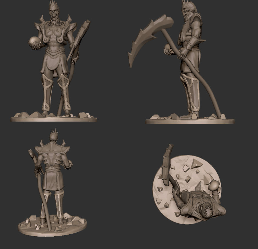 Undead Lord royalty-free 3d model - Preview no. 2