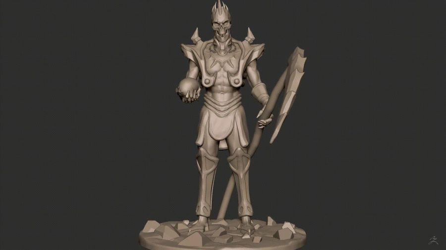 Undead Lord royalty-free 3d model - Preview no. 4