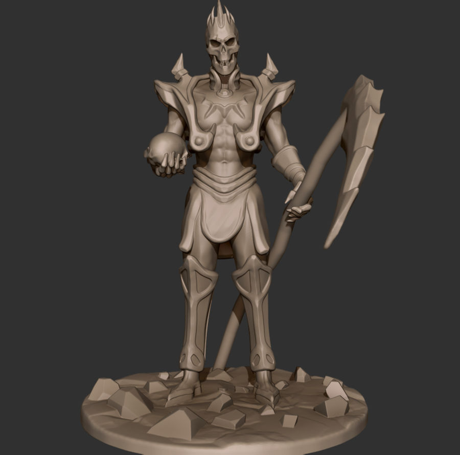 Undead Lord royalty-free 3d model - Preview no. 5