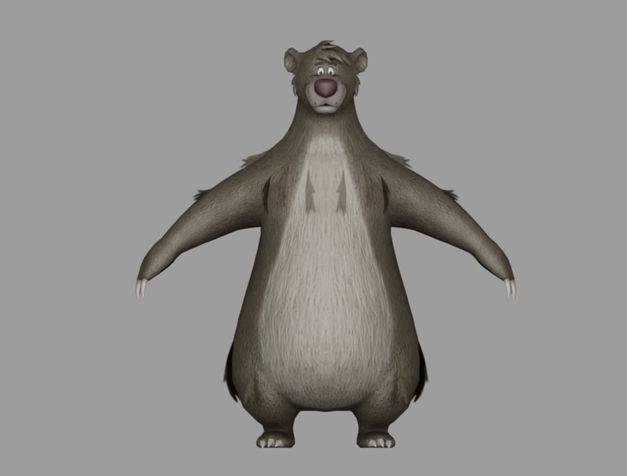 Baloo royalty-free 3d model - Preview no. 2