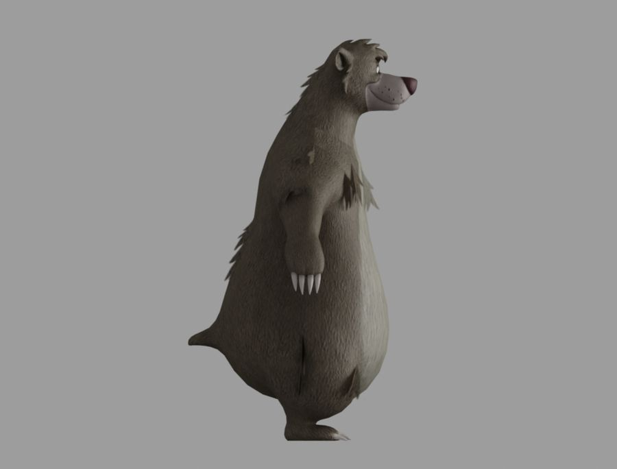 Baloo royalty-free 3d model - Preview no. 4