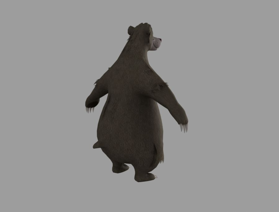 Baloo royalty-free 3d model - Preview no. 5