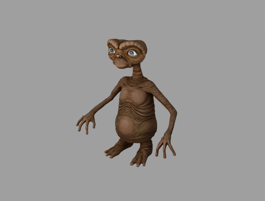 ET stary royalty-free 3d model - Preview no. 1