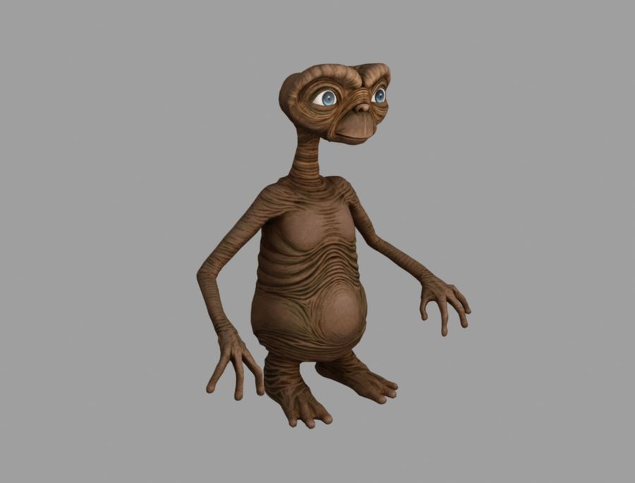 ET stary royalty-free 3d model - Preview no. 3