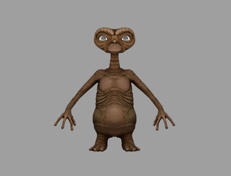 ET stary royalty-free 3d model - Preview no. 2