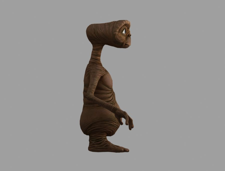 ET stary royalty-free 3d model - Preview no. 4