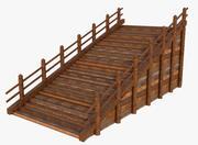 Schody z drewna rustykalnego 3d model