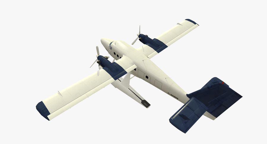 De Havilland DH-6 royalty-free 3d model - Preview no. 8
