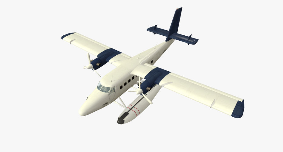 De Havilland DH-6 royalty-free 3d model - Preview no. 9