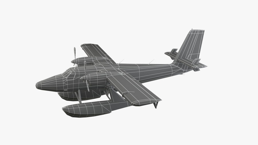 De Havilland DH-6 royalty-free 3d model - Preview no. 11