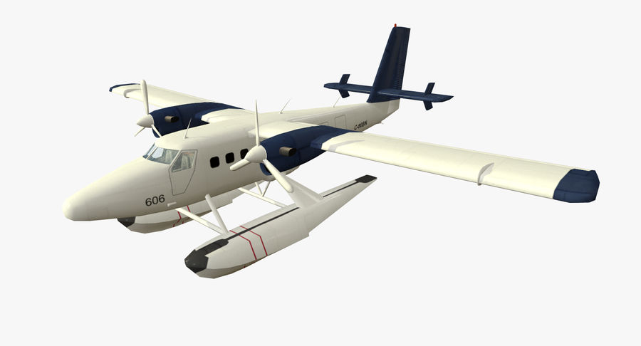 De Havilland DH-6 royalty-free 3d model - Preview no. 3