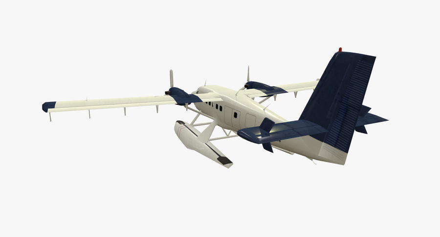 De Havilland DH-6 royalty-free 3d model - Preview no. 7