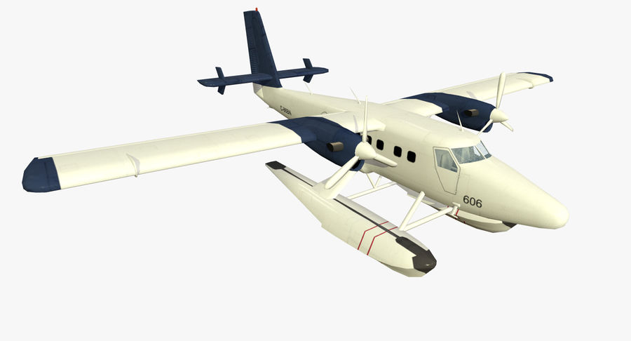 De Havilland DH-6 royalty-free 3d model - Preview no. 2