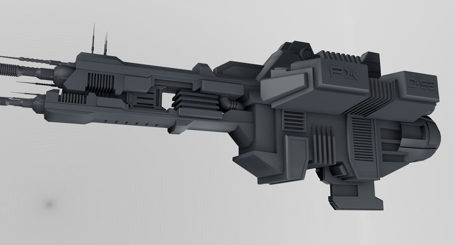 Spaceship royalty-free 3d model - Preview no. 1