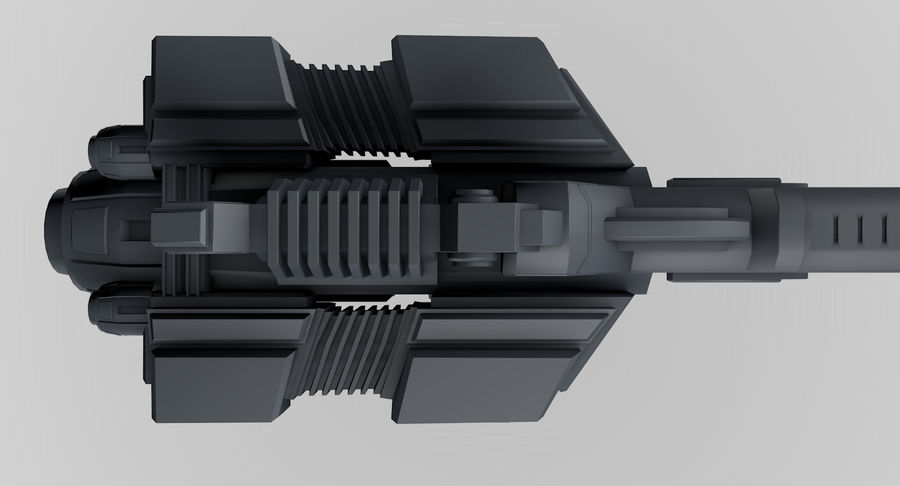 Spaceship royalty-free 3d model - Preview no. 9