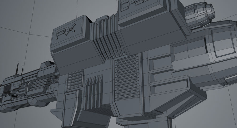 Spaceship royalty-free 3d model - Preview no. 18
