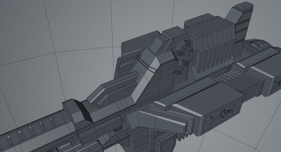 Spaceship royalty-free 3d model - Preview no. 15