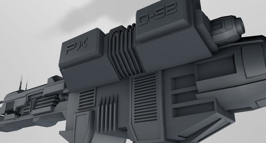 Spaceship royalty-free 3d model - Preview no. 11