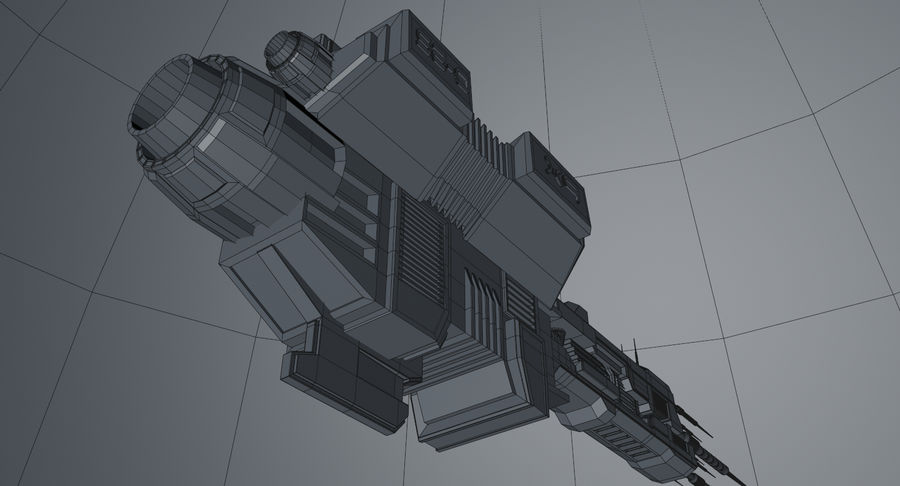 Spaceship royalty-free 3d model - Preview no. 17