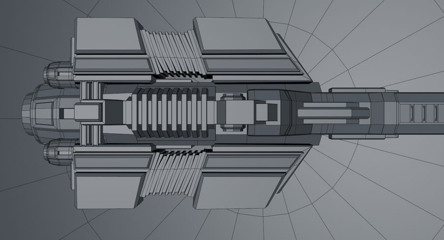 Spaceship royalty-free 3d model - Preview no. 20