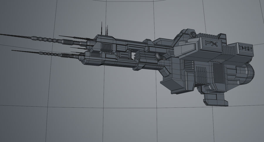 Spaceship royalty-free 3d model - Preview no. 13