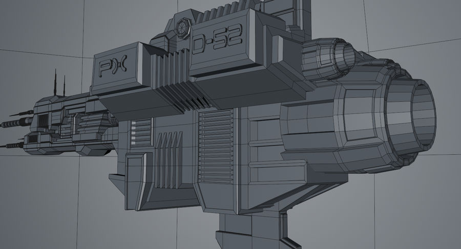 Spaceship royalty-free 3d model - Preview no. 14