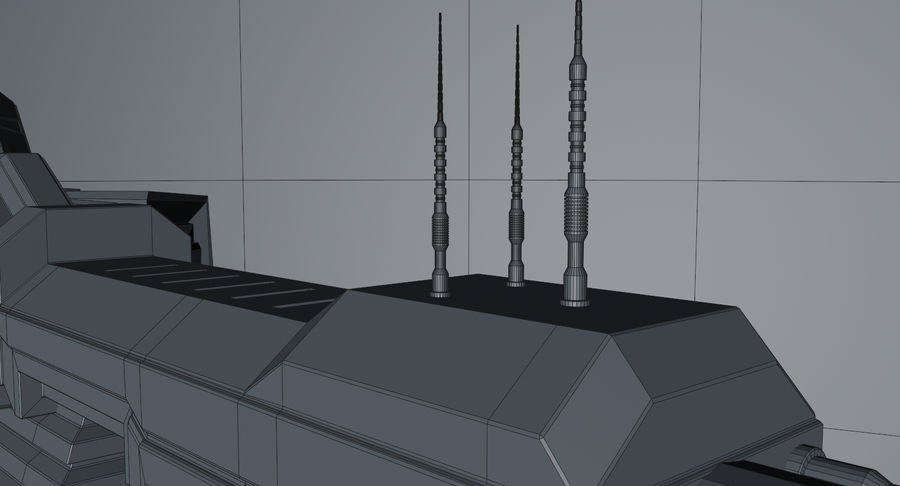 Spaceship royalty-free 3d model - Preview no. 22