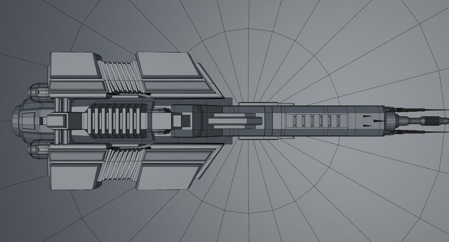 Spaceship royalty-free 3d model - Preview no. 19