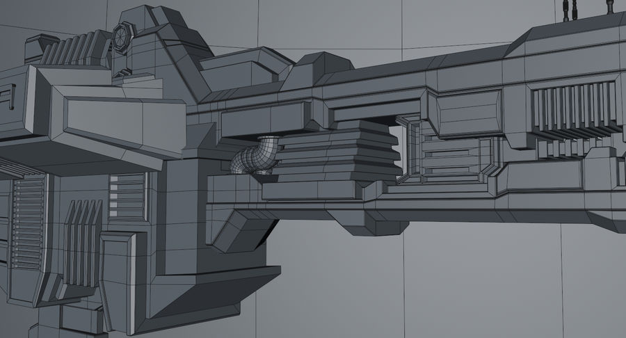 Spaceship royalty-free 3d model - Preview no. 16