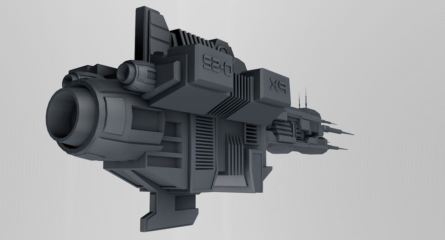 Spaceship royalty-free 3d model - Preview no. 6