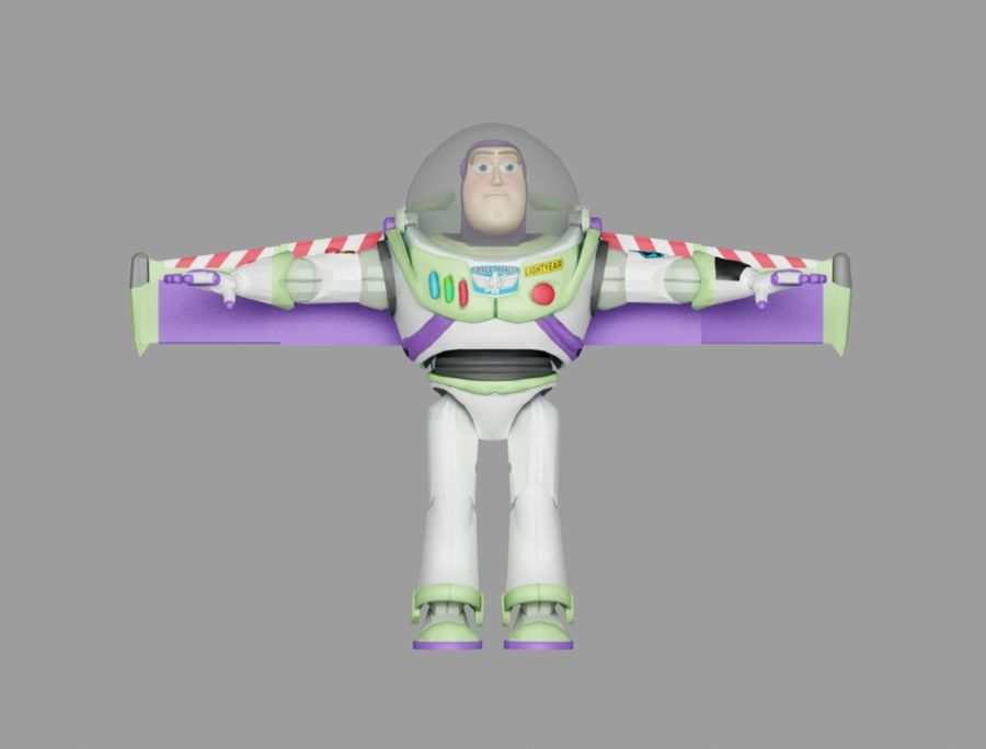 buzz toy story royalty-free 3d model - Preview no. 2