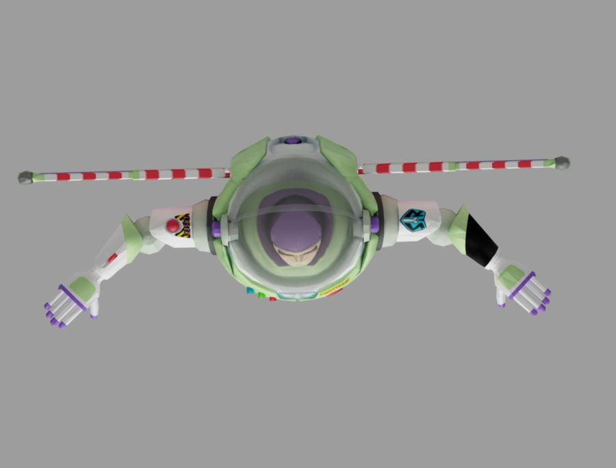 buzz speelgoedverhaal royalty-free 3d model - Preview no. 6