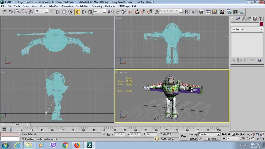 buzz toy story royalty-free 3d model - Preview no. 7