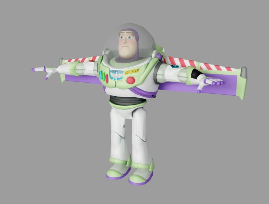 buzz toy story royalty-free 3d model - Preview no. 1
