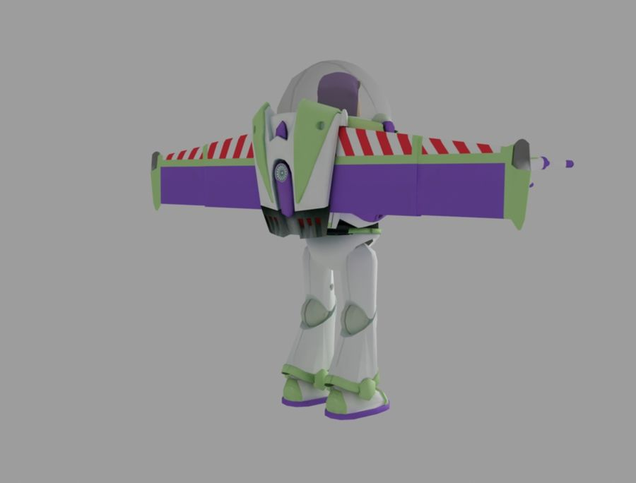 buzz toy story royalty-free 3d model - Preview no. 5