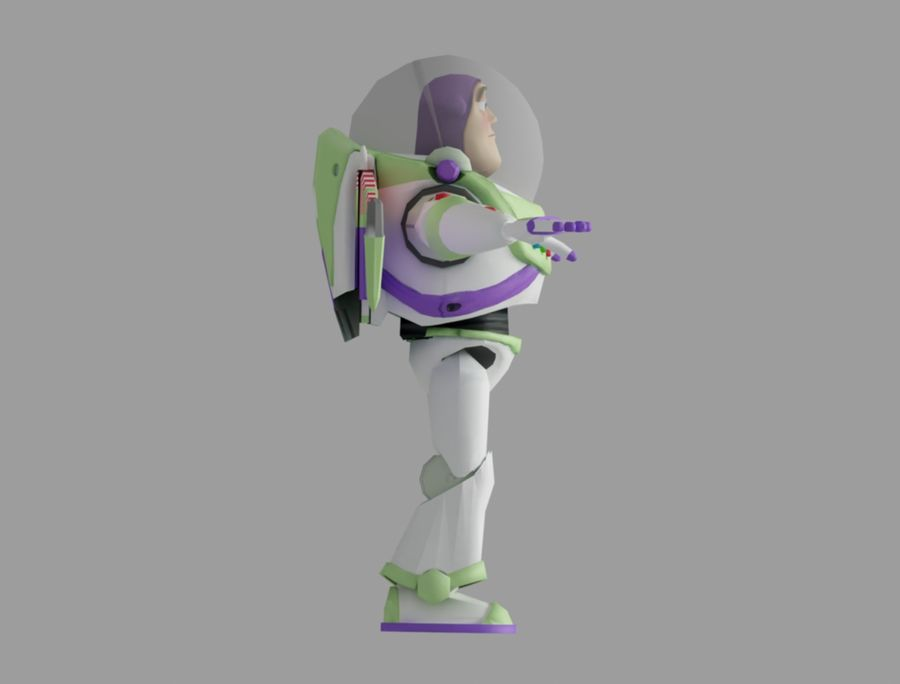 buzz toy story royalty-free 3d model - Preview no. 4