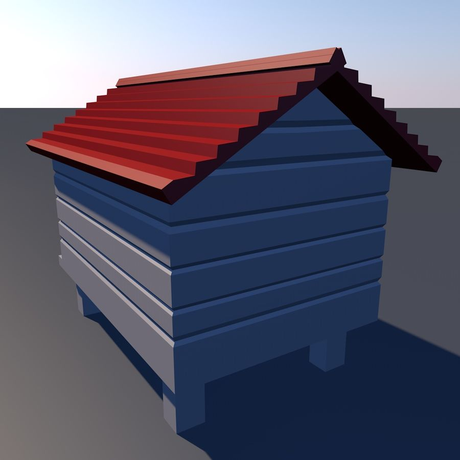 dog house royalty-free 3d model - Preview no. 3